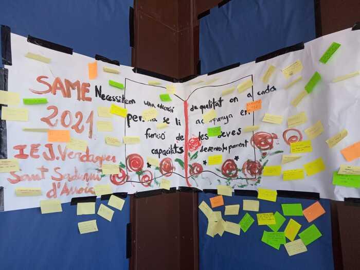 Alumnos del IES Jacint Verdaguer de Sant Sadurní d'Anoia (Catalunya) participan en la SAME 2021